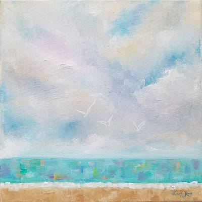 Painting - Three By The Sea by Judith Rhue