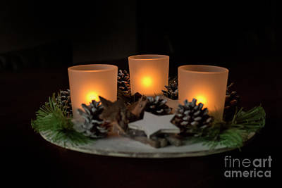 Photograph - Three Candles For Christmas by Patricia Hofmeester