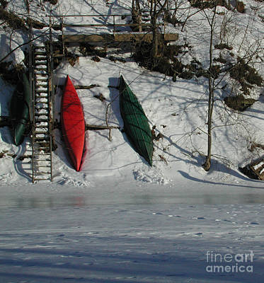 Photograph - Three Canoes by Kathi Shotwell