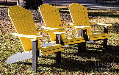 Three Chairs For Sitting 5704 Art Print by Doug Berry
