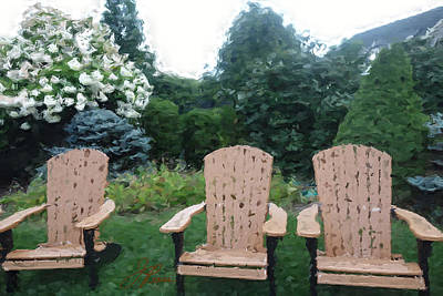 Painting - Three Chairs by Joan Reese