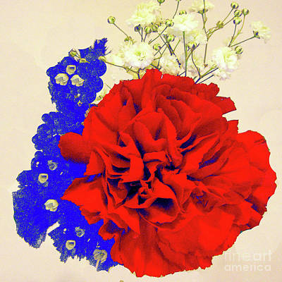 Photograph - Three Cheers For The Red, White And Blue - Flora by Merton Allen