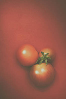 Tomato Photograph - Three Cherry Tomatoes by Scott Norris