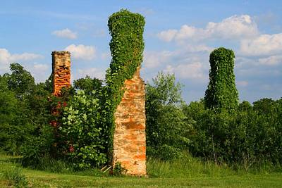 Photograph - Three Chimneys by Kathryn Meyer