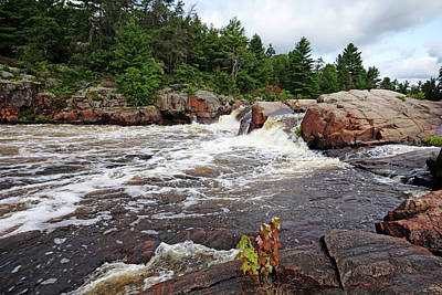 Photograph - Three Chutes Flowing Sturgeon Chutes II by Debbie Oppermann