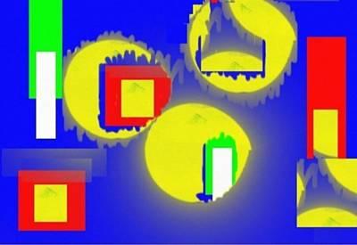 Digital Art - Three Circles by Isaac Khonjelwayo