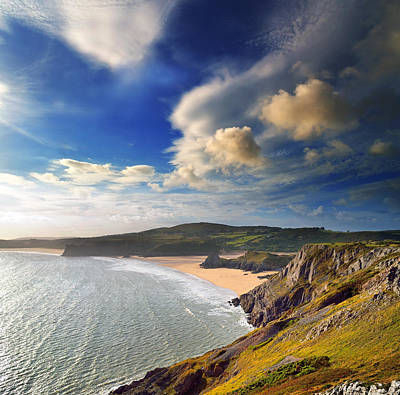 Three Cliffs Bay 1 Art Print