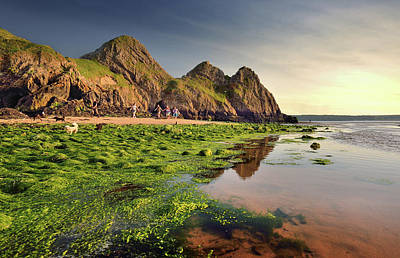 Photograph - Three Cliffs Bay 3 by Phil Fitzsimmons
