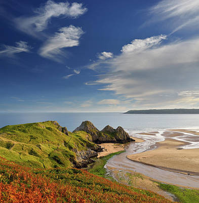 Photograph - Three Cliffs Bay 4 by Phil Fitzsimmons