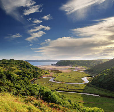 Photograph - Three Cliffs Bay 6 by Phil Fitzsimmons