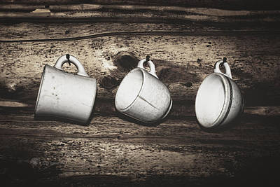 Photograph - Three Coffee Cups by Fred Denner
