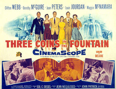 1950s Fashion Photograph - Three Coins In The Fountain, Clifton by Everett
