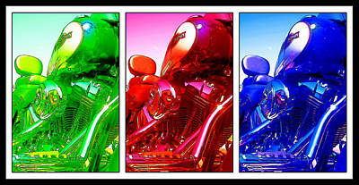 Photograph - Three Color Harley by Ricky Barnard
