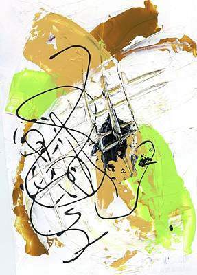 Three Color Palette Art Print by Michal Mitak Mahgerefteh