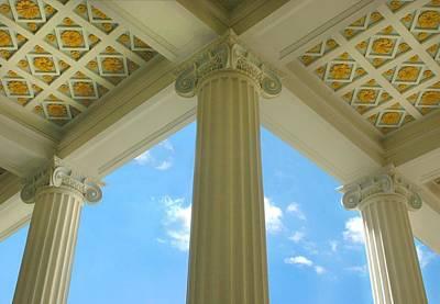 Columns Photograph - Three Columns by Dan Holm