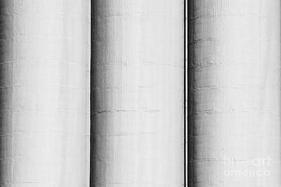 Factory Photograph - Three Concrete Silos by Jan Brons