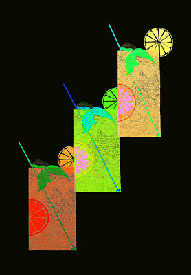 Digital Art - Three Cool Drinks by Stephanie Grant