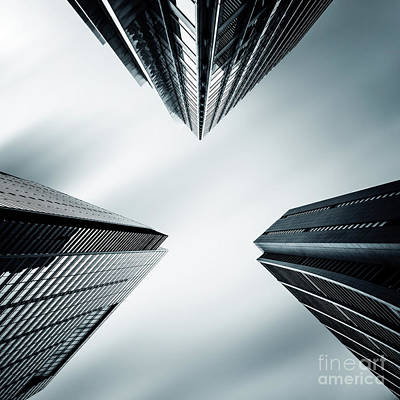 City Scenes Royalty-Free and Rights-Managed Images - Three Corners To The Sky by Evelina Kremsdorf