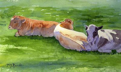 Painting - Three Cows by Marsha Karle