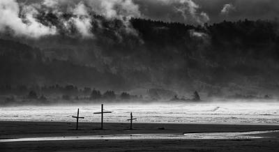 Photograph - Three Crosses by Betty Depee