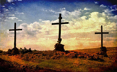 Three Crosses Art Print