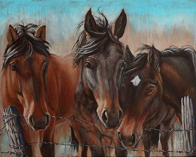 Painting - Three Curious Friends by Cindy Welsh