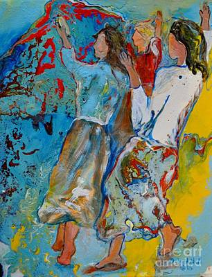 Painting - Three Dancers by Deborah Nell