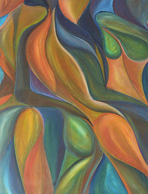 Painting - Three Dancers Smooth by Trina Teele