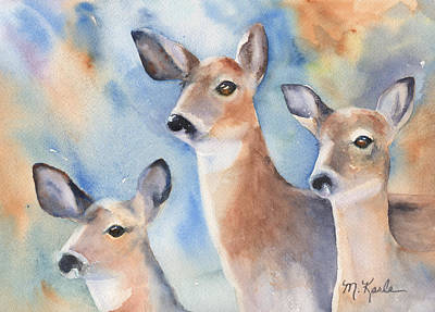 Painting - Three Deer by Marsha Karle