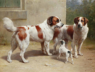 Painting - Three Dogs by Carl Reichert