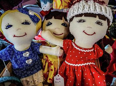 Photograph - Three Dolls by Bruce Carpenter