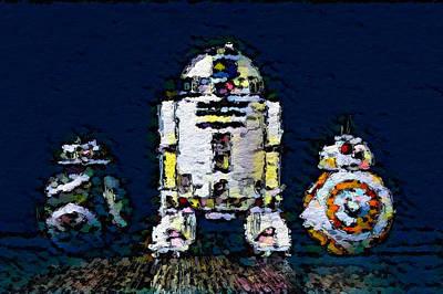 Three Droids Art Print