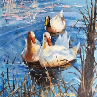 Painting - Three Ducks by Michael McDougall