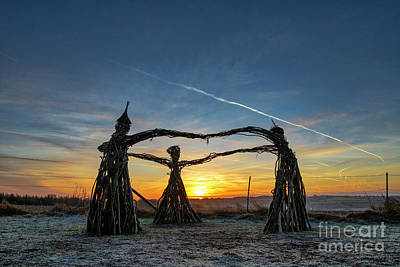 Photograph - Three Fairies Dancing At Sunrise by Tim Gainey