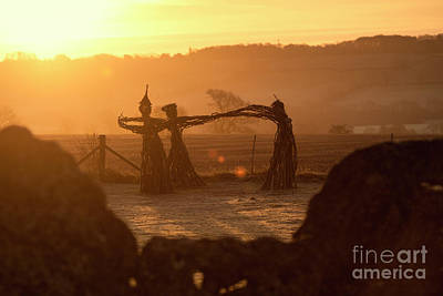 Photograph - Three Fairies Dancing At The Rollright Stones At Sunrise by Tim Gainey
