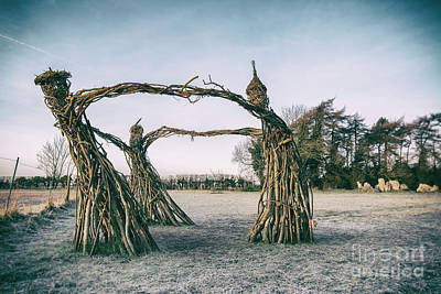 Photograph - Three Fairies Dancing At The Rollright Stones by Tim Gainey
