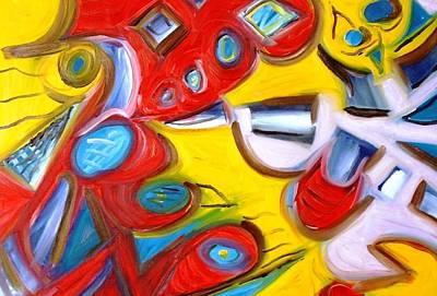 Alfredo Llana Painting - Three Feet High by Alfredo Dane Llana
