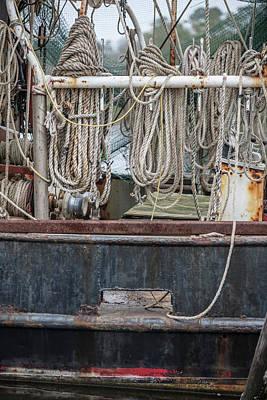 Photograph - Three Fishing Ropes On Shrimp Boat  by John McGraw