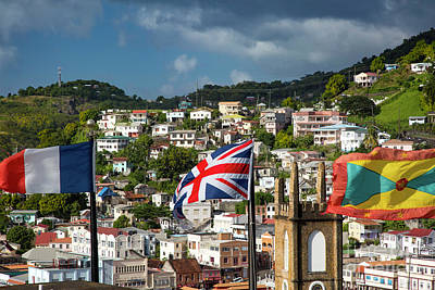 Photograph - Three Flags Over Grenada by Brian Jannsen