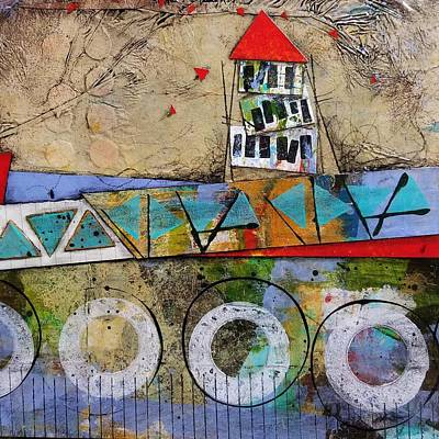 Mixed Media - Three Flat by Laura Lein-Svencner