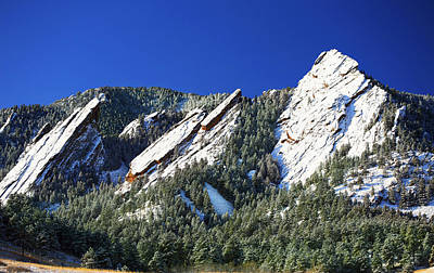 Three Flatirons Art Print by Marilyn Hunt