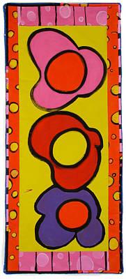 Painting - Three Flowers by Grace Matthews