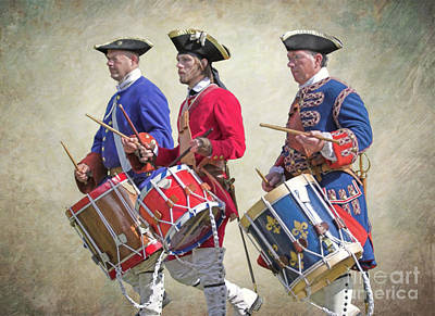 Steele Digital Art - Three French Drummers by Randy Steele