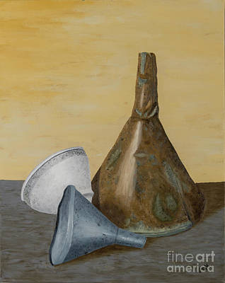 Painting - Three Funnels  by Garry McMichael