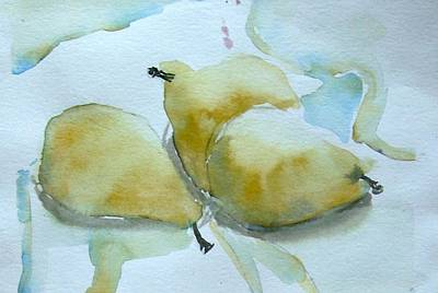 Three Gold Pears Art Print
