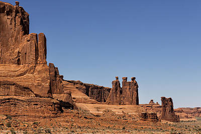 Photograph - Three Gossips - Arches National Park by Belinda Greb