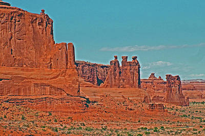 Photograph - Three Gossips In Arches National Park, Utah by Ruth Hager