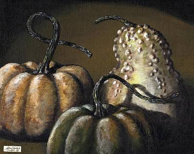Three Gourds Art Print by Adam Zebediah Joseph
