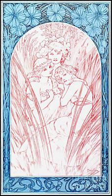 Three Graces 1901 Print by Padre Art