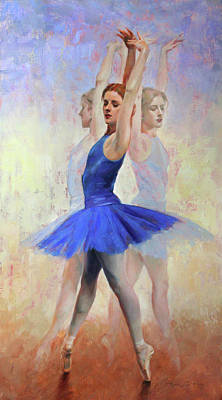 Pointe Shoes Painting - Three Graces by Anna Rose Bain